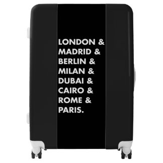 List of Popular World Cities Luggage Bag