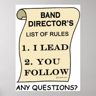 List Of Rules de la banda de director Póster