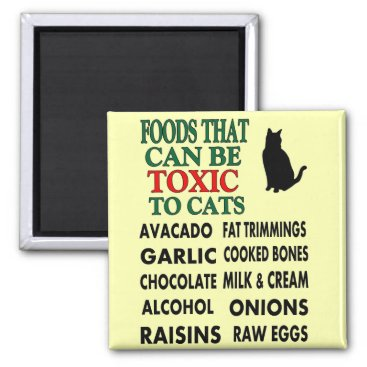 BukuDesigns LIST OF TOXIC FOODS FOR CATS MAGNET