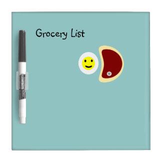 Lista 4,1 del filete y del ultramarinos de los pizarra