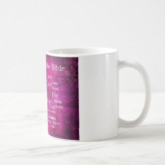 Lista bíblica famosa de las mujeres taza de café