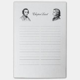 Lista de compras de Chopin Liszt Nota Post-it®
