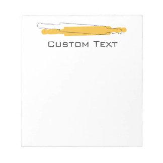 Lista de compras de encargo de la panadería del bloc de papel
