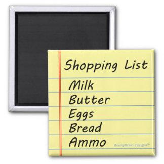 Lista de compras - el esencial imán cuadrado