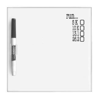 Lista de control corriente pizarras blancas de calidad