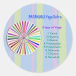 Lista de control de la YOGA: 8 pasos de PATANJALI Pegatina Redonda