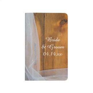 Lista de control de madera del boda del país del cuaderno grapado