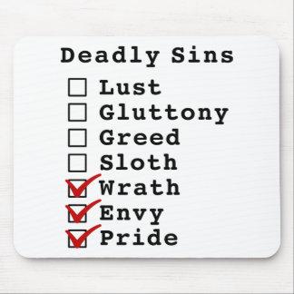 Lista de control de siete pecados mortales (000011 tapete de ratón