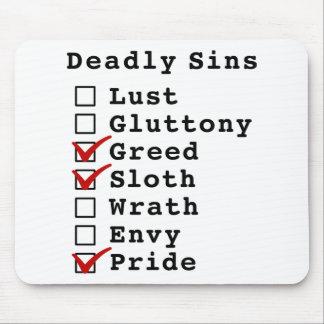 Lista de control de siete pecados mortales (001100 alfombrilla de raton