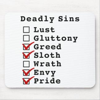 Lista de control de siete pecados mortales (001101 tapete de raton