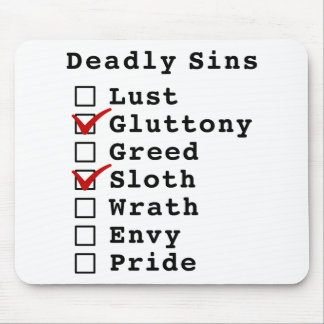 Lista de control de siete pecados mortales (010100 tapetes de raton