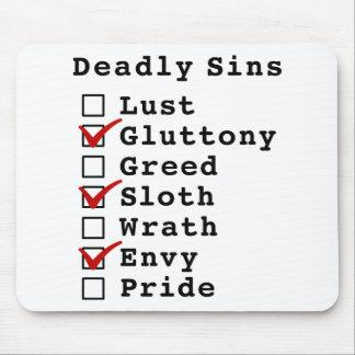 Lista de control de siete pecados mortales (010101 tapete de ratones
