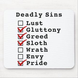 Lista de control de siete pecados mortales (011100 mouse pad