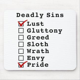 Lista de control de siete pecados mortales (100000 alfombrillas de ratones
