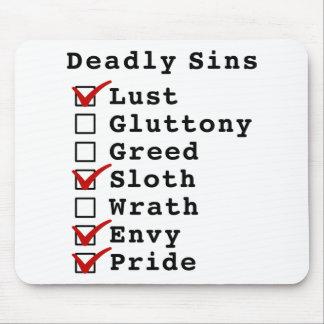 Lista de control de siete pecados mortales (100101 tapete de raton