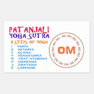 Lista de la compilación de Sutra de la yoga de Pegatina Rectangular