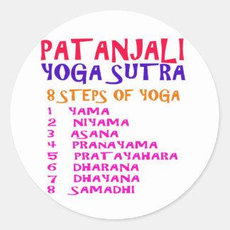 Lista de la compilación de Sutra de la yoga de Pegatina Redonda