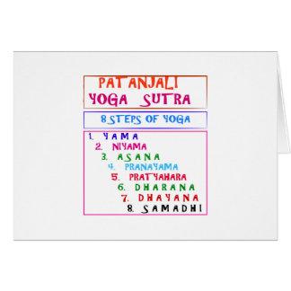 Lista de la compilación de Sutra de la yoga de Tarjeta De Felicitación
