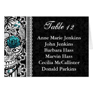 Lista de la huésped de la tabla de la recepción tarjeta de felicitación