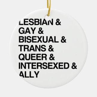 LISTA DE LGBTQI ADORNO DE NAVIDAD