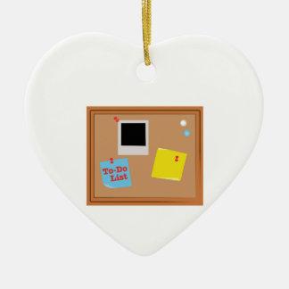 Lista de lío adorno de cerámica en forma de corazón