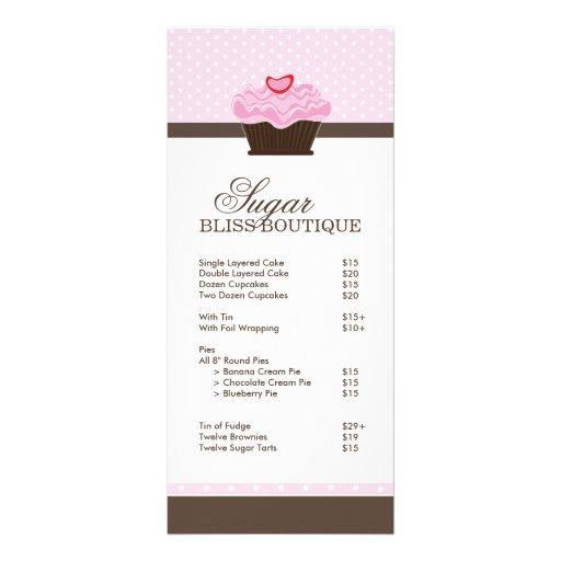 Lista de precios de la panadería lonas personalizadas