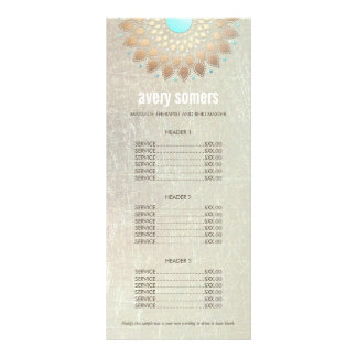 Lista de precios de madera del oro de la mandala tarjeta publicitaria personalizada