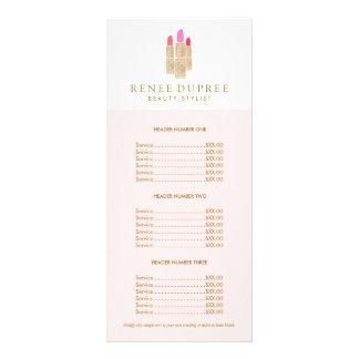 Lista de precios del rosa del artista de tarjetas publicitarias