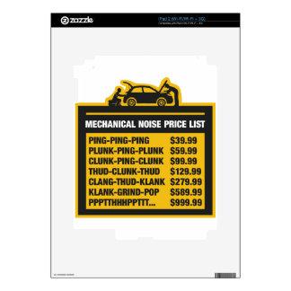 Lista de precios del ruido mecánico iPad 2 calcomanía