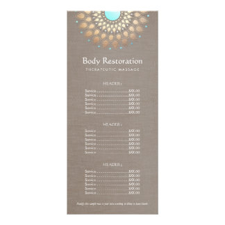 Lista de precios del terapeuta del masaje de Lotus Lona Publicitaria