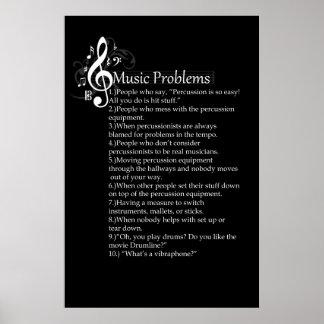 Lista de problemas de la percusión impresiones
