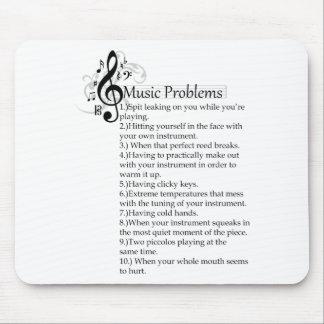 Lista de problemas del instrumento de viento de ma tapetes de ratón