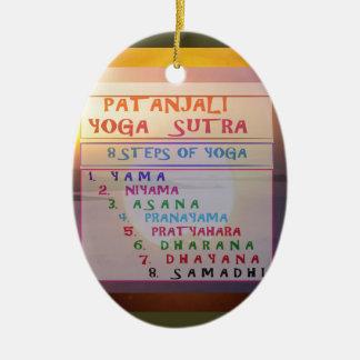 Lista de Sutra de la meditación de la yoga de Adorno Navideño Ovalado De Cerámica