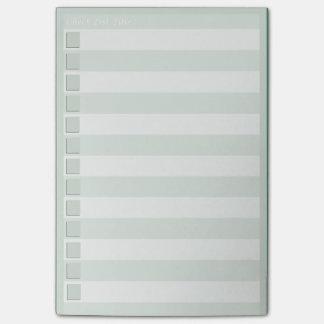 Lista de verificación notas post-it®