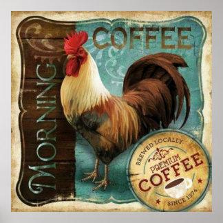 Lista del café póster