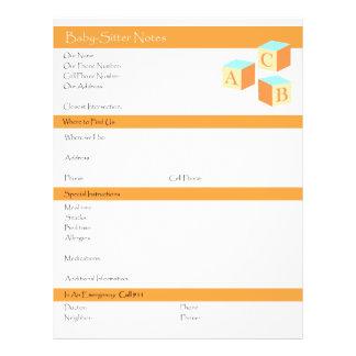 Lista del canguro de información y de instruccione tarjeton