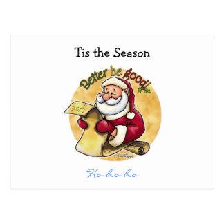 Lista del navidad de Papá Noel Postal