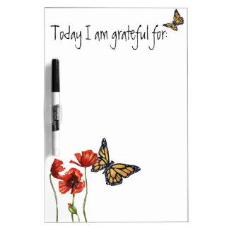 Lista del recordatorio de la gratitud para su tableros blancos