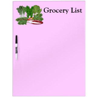 Lista del ultramarinos de las verduras de los aman pizarras blancas de calidad