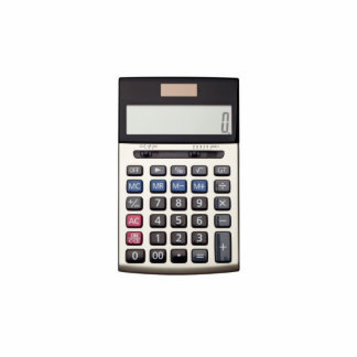 Lista en blanco con euro y la calculadora fotoescultura vertical
