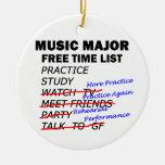 Lista importante del tiempo libre de la música adornos