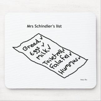 Lista Mousemat de señora Schindler Alfombrilla De Raton