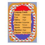 Lista popular de las idiomas del nativo americano: postales