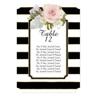 """Lista rayada ancha floral color de rosa moderna invitación 5"""" x 7"""""""