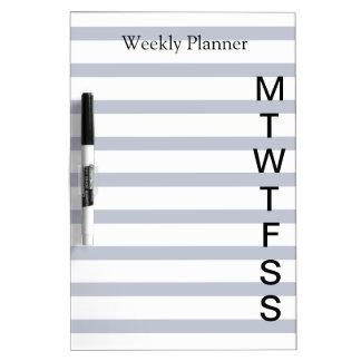 Lista semanal del planificador del día pizarra