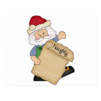 Lista traviesa de Santa Postales