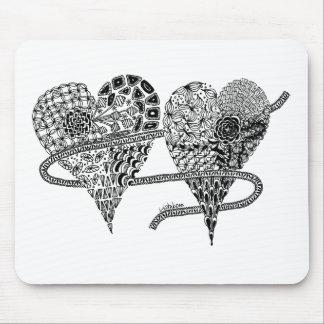 Listakora Two Hearts Mousepad