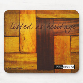 Listed heritage mouse pad