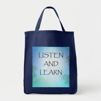 Listen and Learn Tote Bag