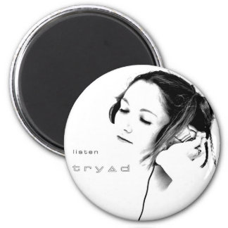 listen by tryad 2 inch round magnet